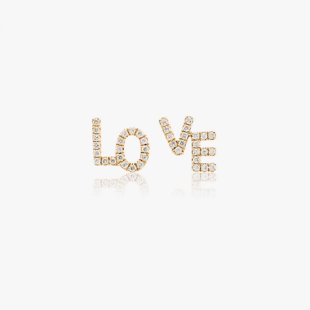 Rosa クルス ジュエリー・アクセサリー【18k イヤリング・ピアス ラ diamond La stud デ Cruz ローサ De yellow earrings】metallic Love gold レディース