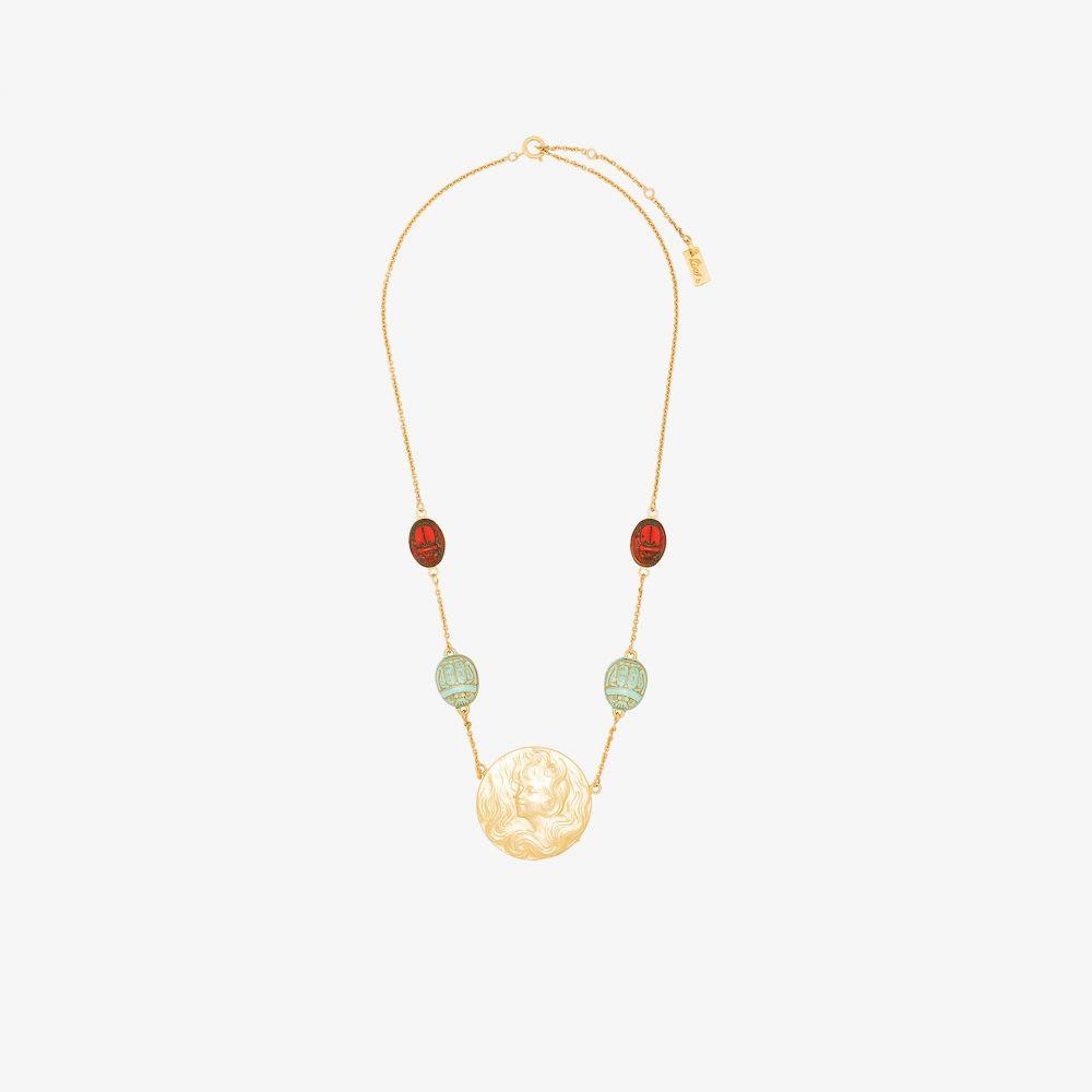 リキソ Rixo レディース ネックレス ジュエリー・アクセサリー【gold tone Saturn medallion necklace】gold