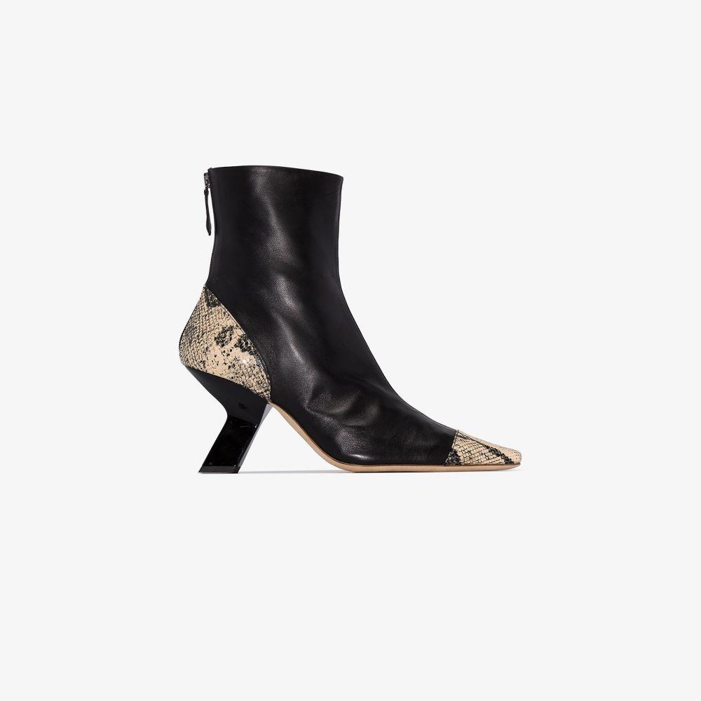 レジーナ ピヨ Rejina Pyo レディース ブーツ ショートブーツ シューズ・靴【Black Marley 80 snake print ankle boots】black