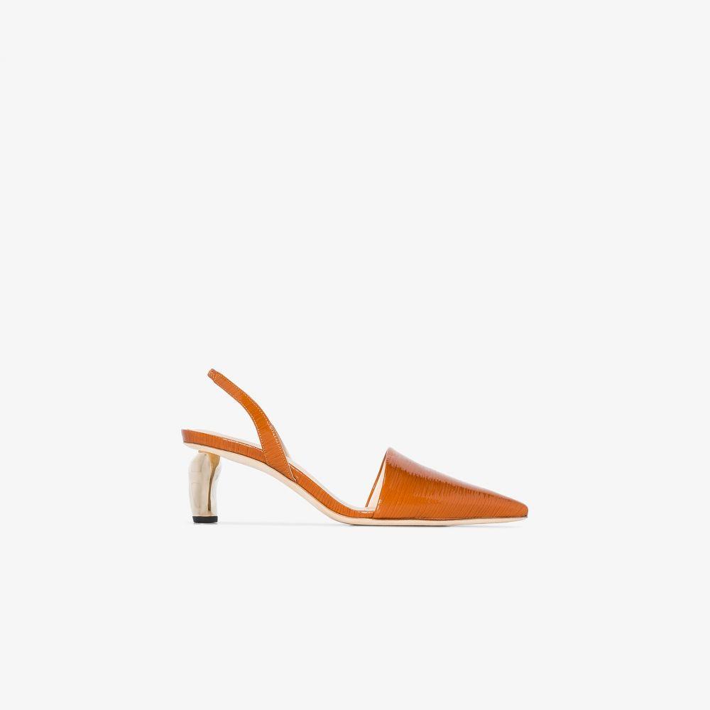 レジーナ ピヨ Rejina Pyo レディース パンプス シューズ・靴【brown conie 60 lizard-effect patent leather pumps】brown