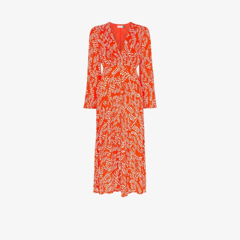 リキソ Rixo レディース ワンピース ミドル丈 ワンピース・ドレス【Sonja floral midi dress】red