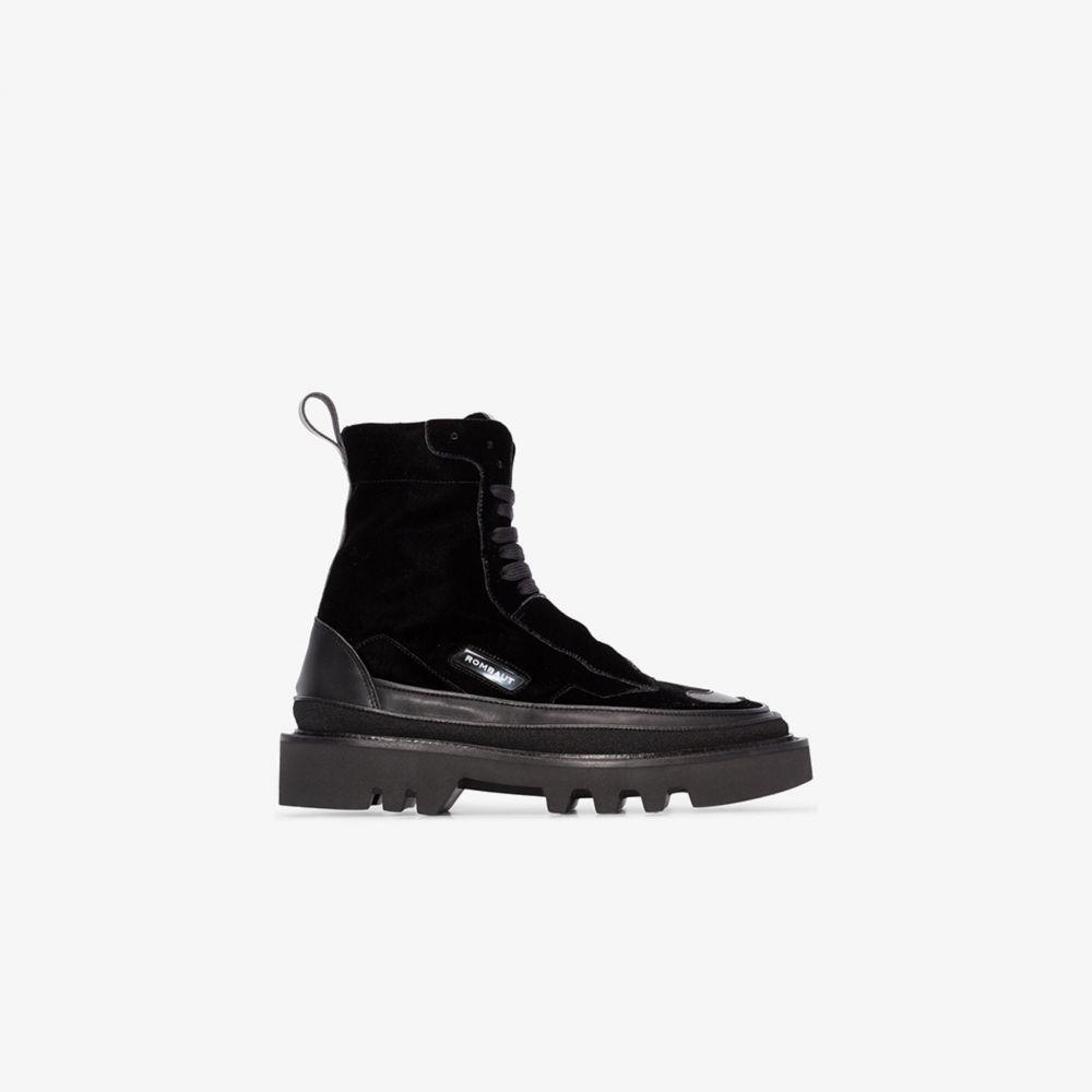ロンバート Rombaut レディース ブーツ シューズ・靴【Black Protect Hybrid velvet boots】black