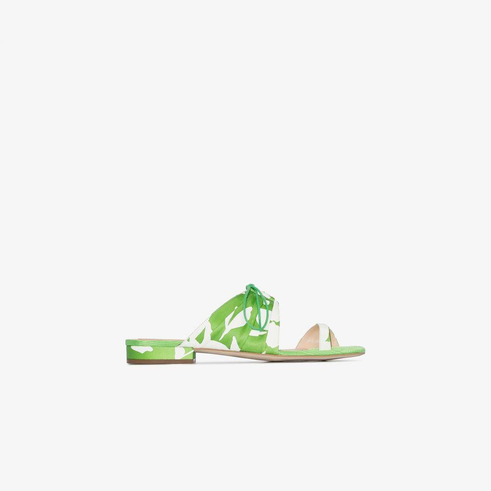 ロージーアスリン Rosie Assoulin レディース サンダル・ミュール シューズ・靴【green pleated floral silk sandals】green