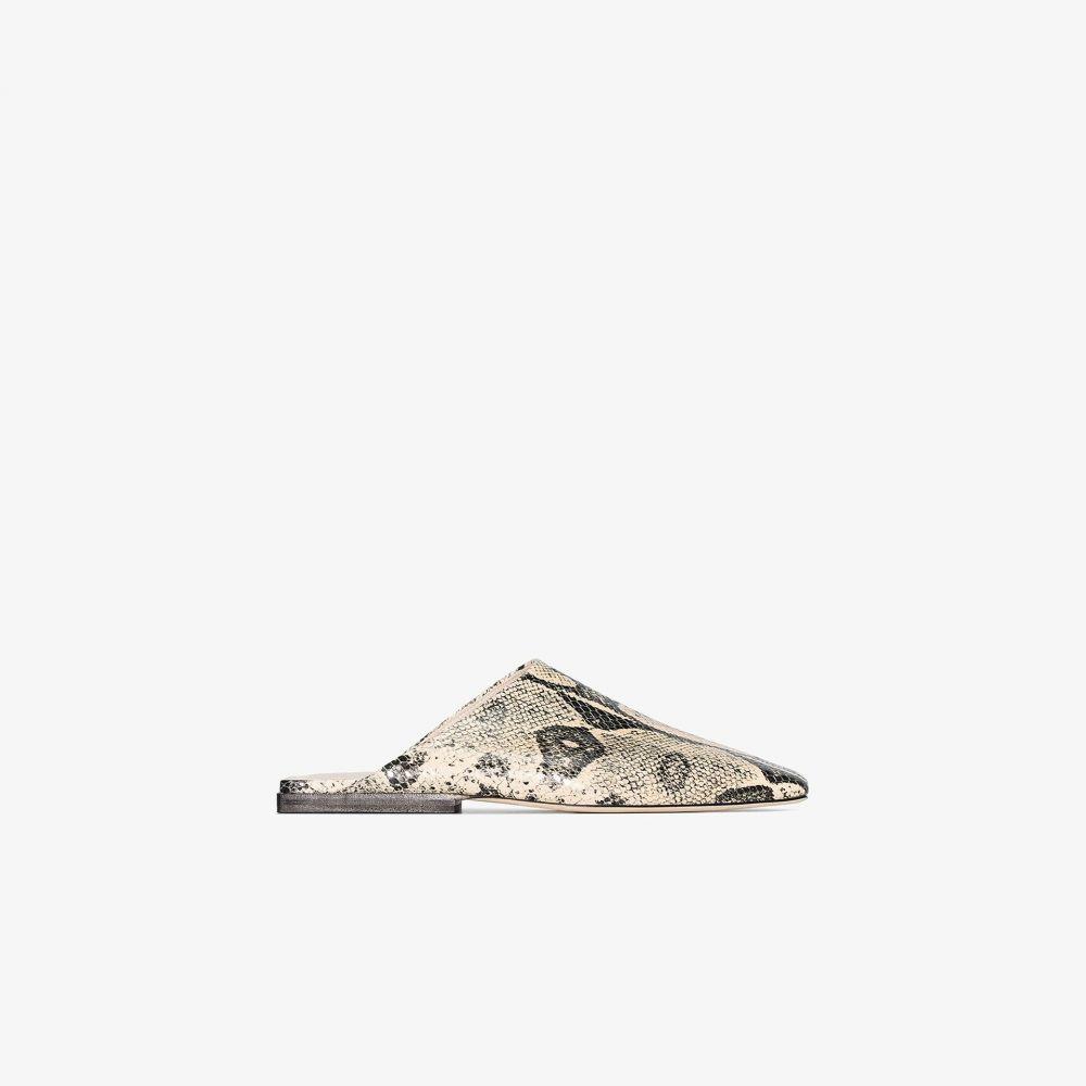 レジーナ ピヨ Rejina Pyo レディース サンダル・ミュール シューズ・靴【beige Leo snake print leather mules】neutrals