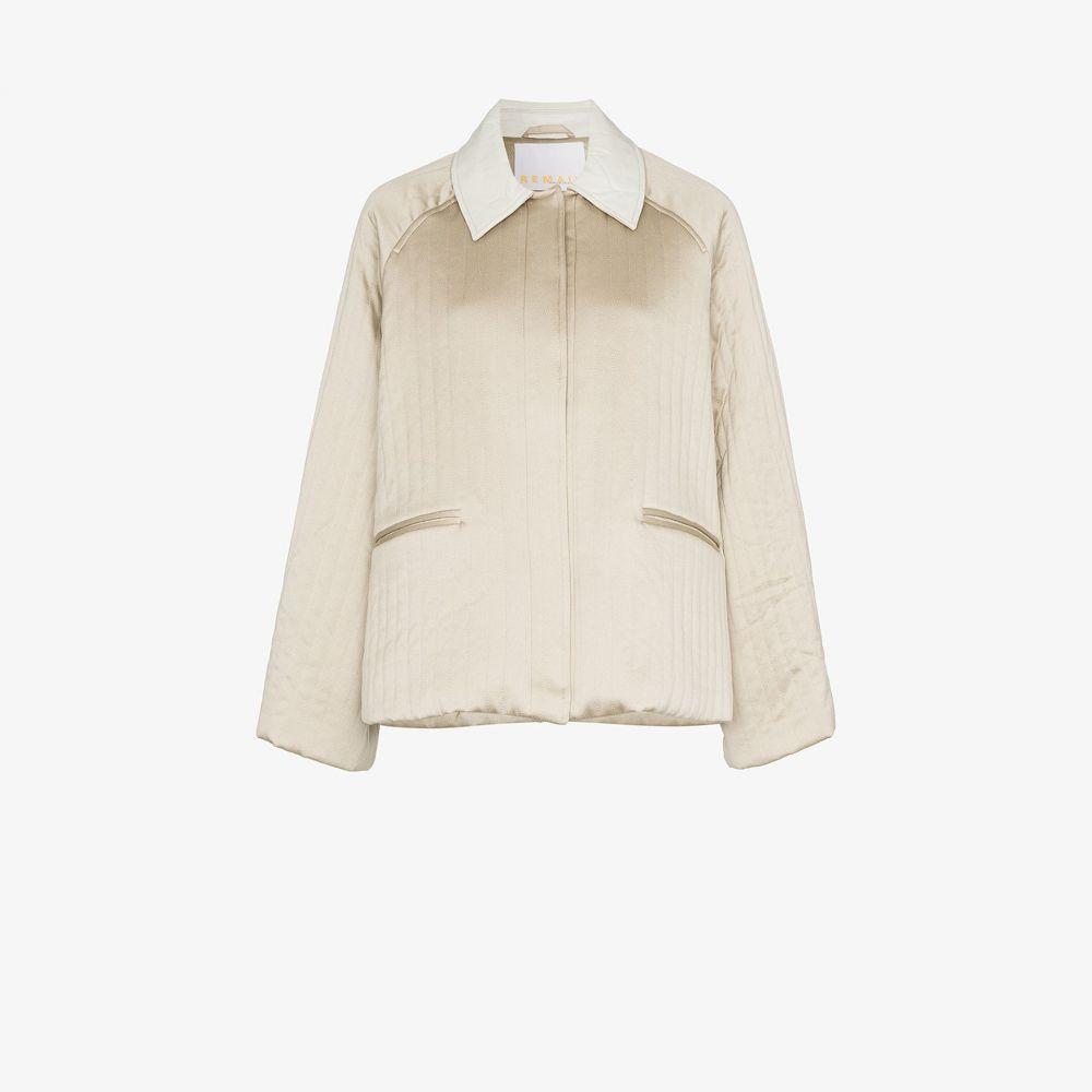 リメイン Remain レディース ジャケット アウター【quilted trapeze jacket】metallic