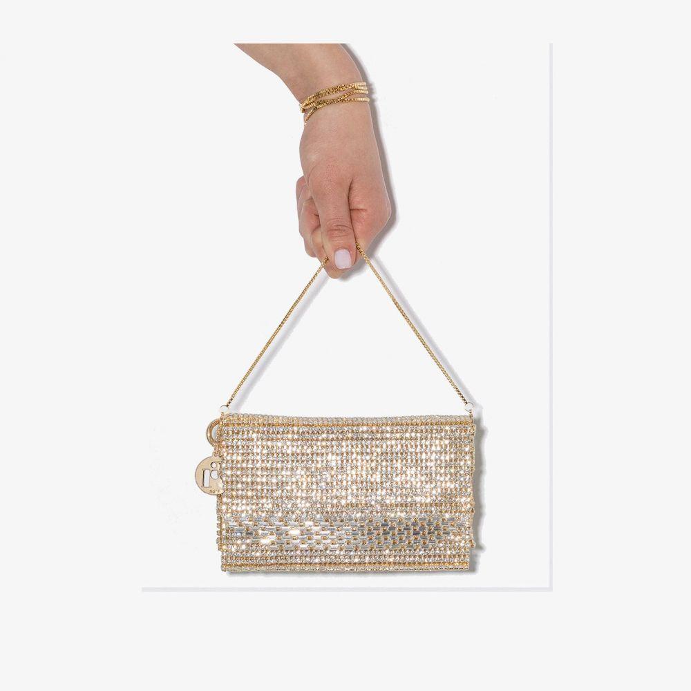 ロザンティカ レディース バッグ クラッチバッグ サイズ交換無料 Rosantica 予約販売品 gold crystal embellished bag 人気ブレゼント! tone Rosanna metallic shoulder
