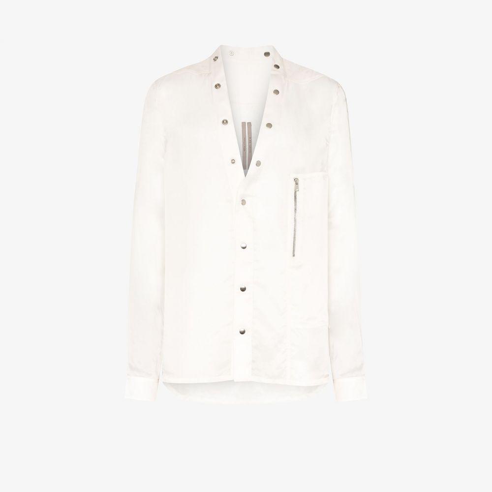 リック オウエンス Rick Owens メンズ シャツ トップス【larry snap button shirt】white
