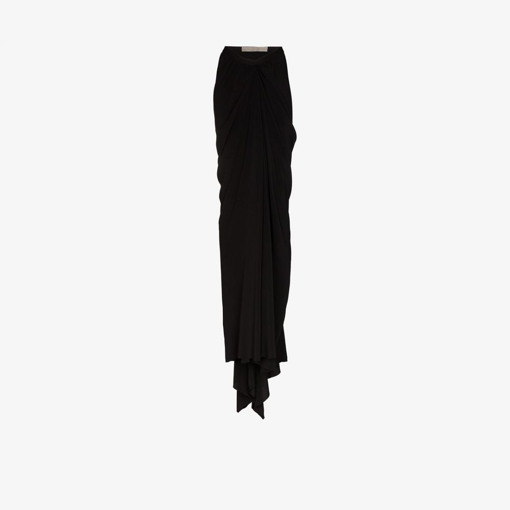 リック オウエンス Rick Owens レディース ロング・マキシ丈スカート スカート【high waist gathered maxi skirt】black