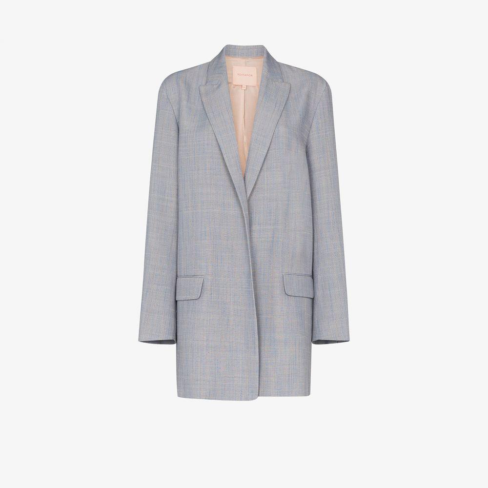 ロクサンダ Roksanda レディース スーツ・ジャケット アウター【oversized single-breasted blazer】blue