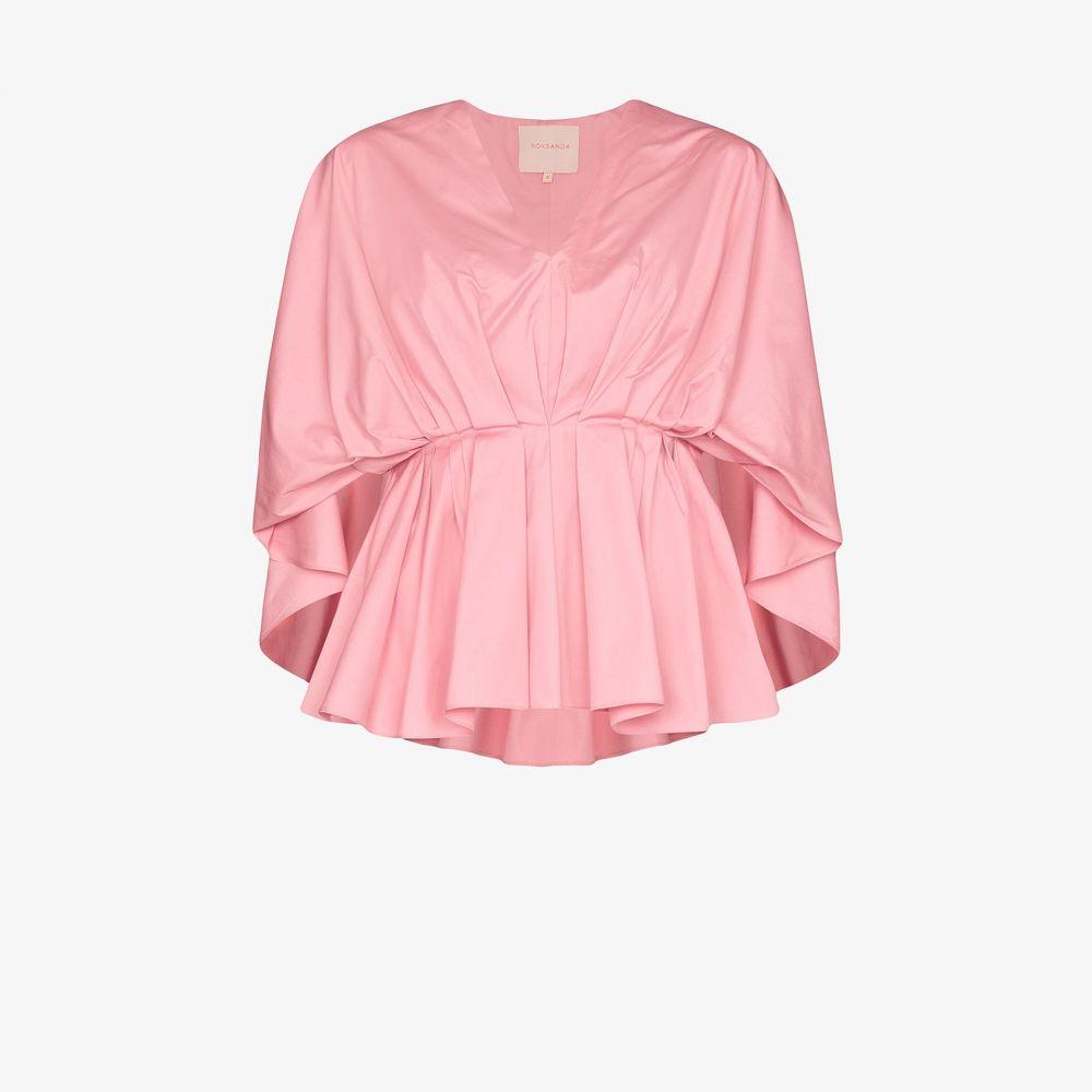 ロクサンダ Roksanda レディース ブラウス・シャツ トップス【gathered peplum blouse】pink