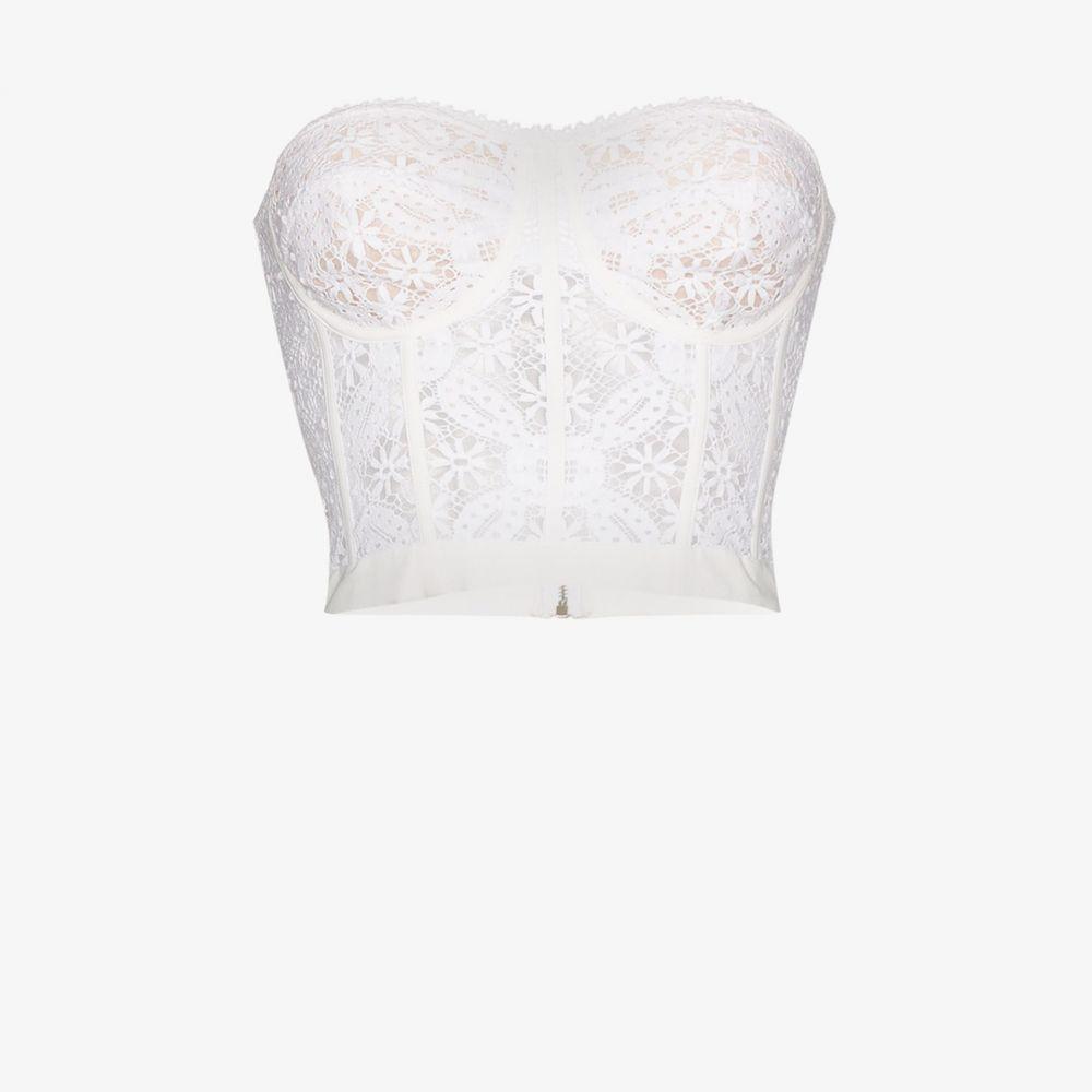 アレキサンダー マックイーン Alexander McQueen レディース ベアトップ・チューブトップ・クロップド トップス【lace corset top】white