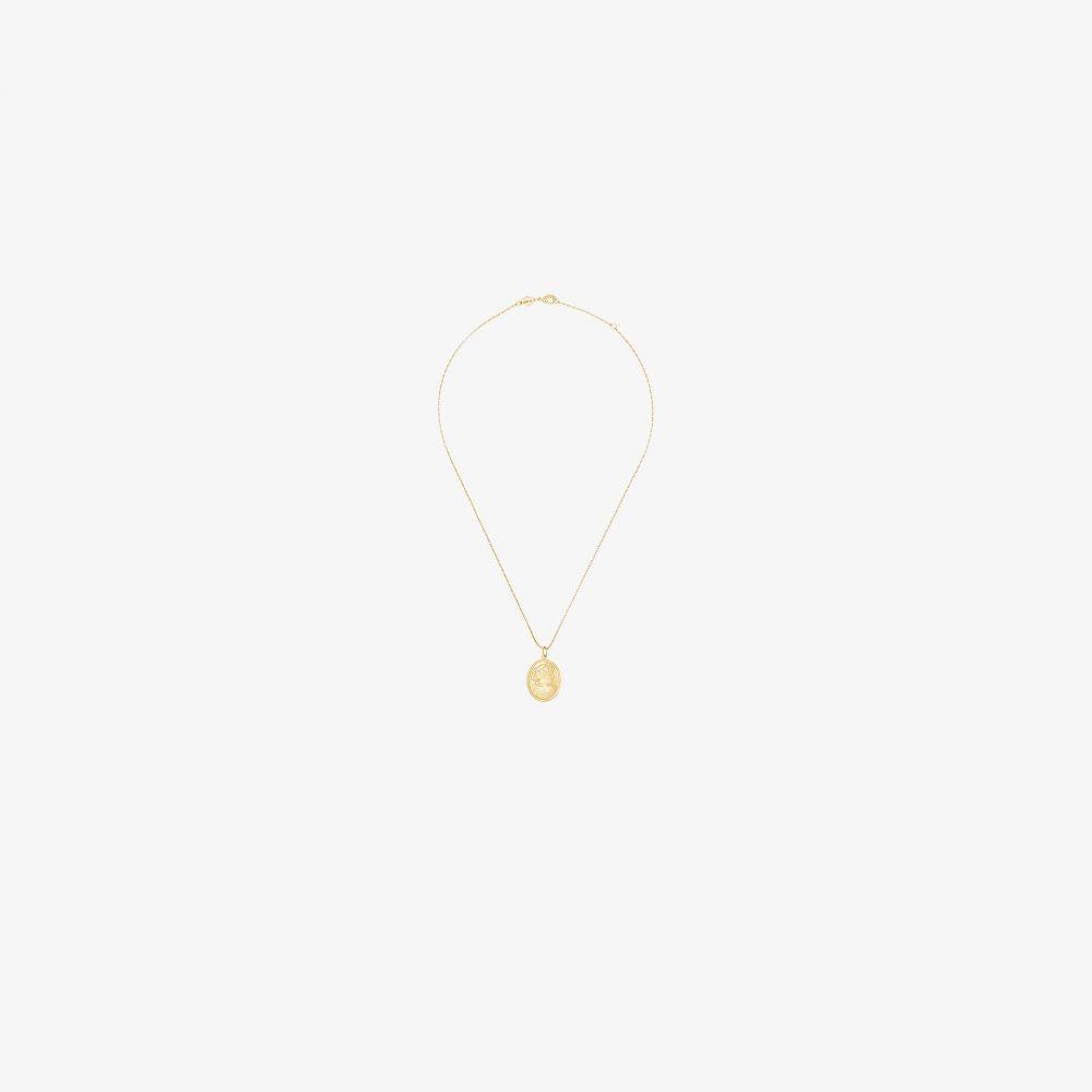 アニルー Anni Lu レディース ネックレス ジュエリー・アクセサリー【18K yellow gold-plated carla pendant necklace】gold