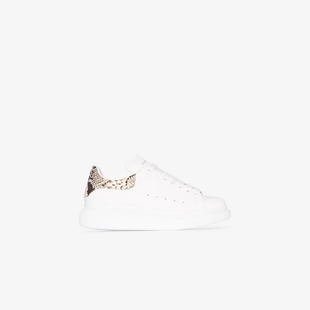 アレキサンダー マックイーン Alexander McQueen レディース スニーカー シューズ・靴【white snake effect oversized sneakers】white