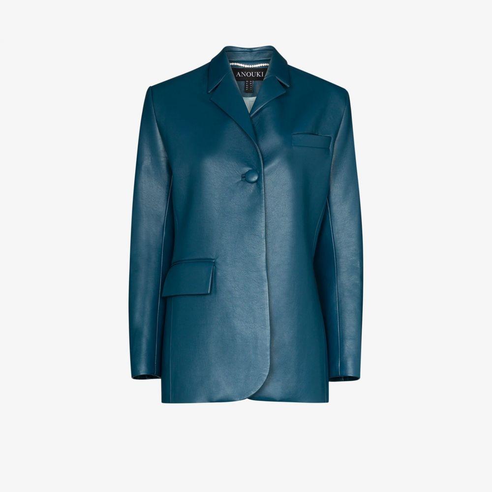 アヌーキ ANOUKI レディース スーツ・ジャケット アウター【single-breasted blazer jacket】blue