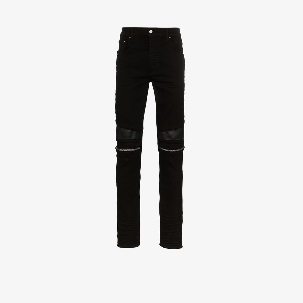 アミリ AMIRI メンズ ジーンズ・デニム ボトムス・パンツ【MX2 zip detail panelled jeans】black