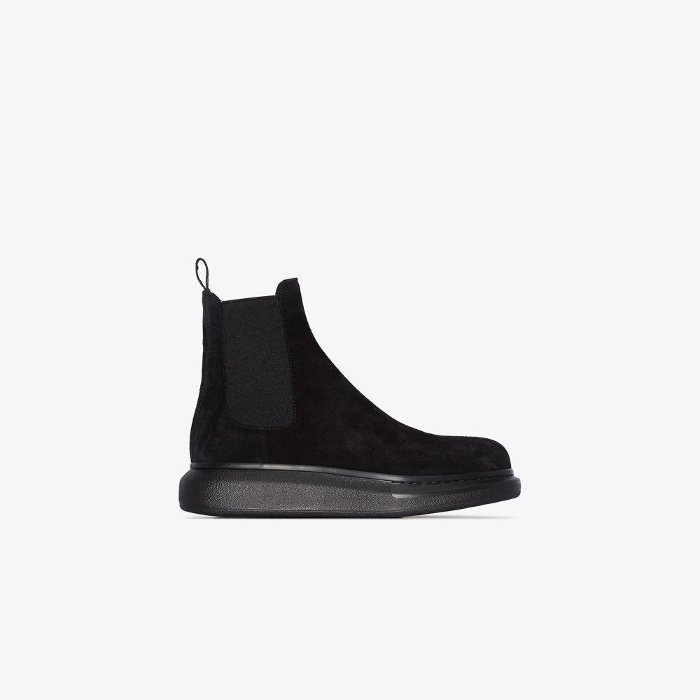 アレキサンダー マックイーン Alexander McQueen メンズ ブーツ チェルシーブーツ シューズ・靴【black Hybrid Chelsea boots】black