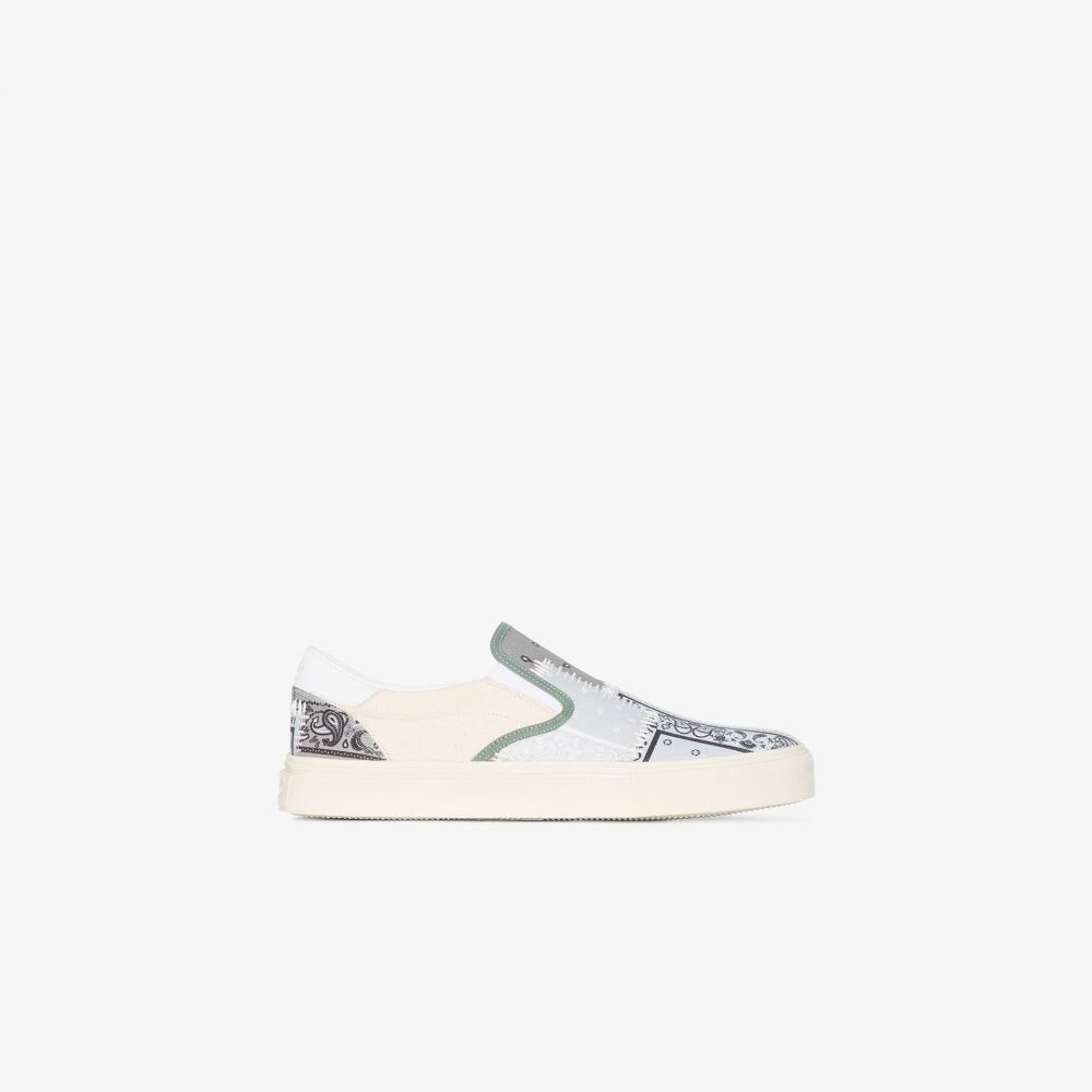 アミリ AMIRI レディース スリッポン・フラット シューズ・靴【multicoloured bandana patchwork slip-on sneakers】green