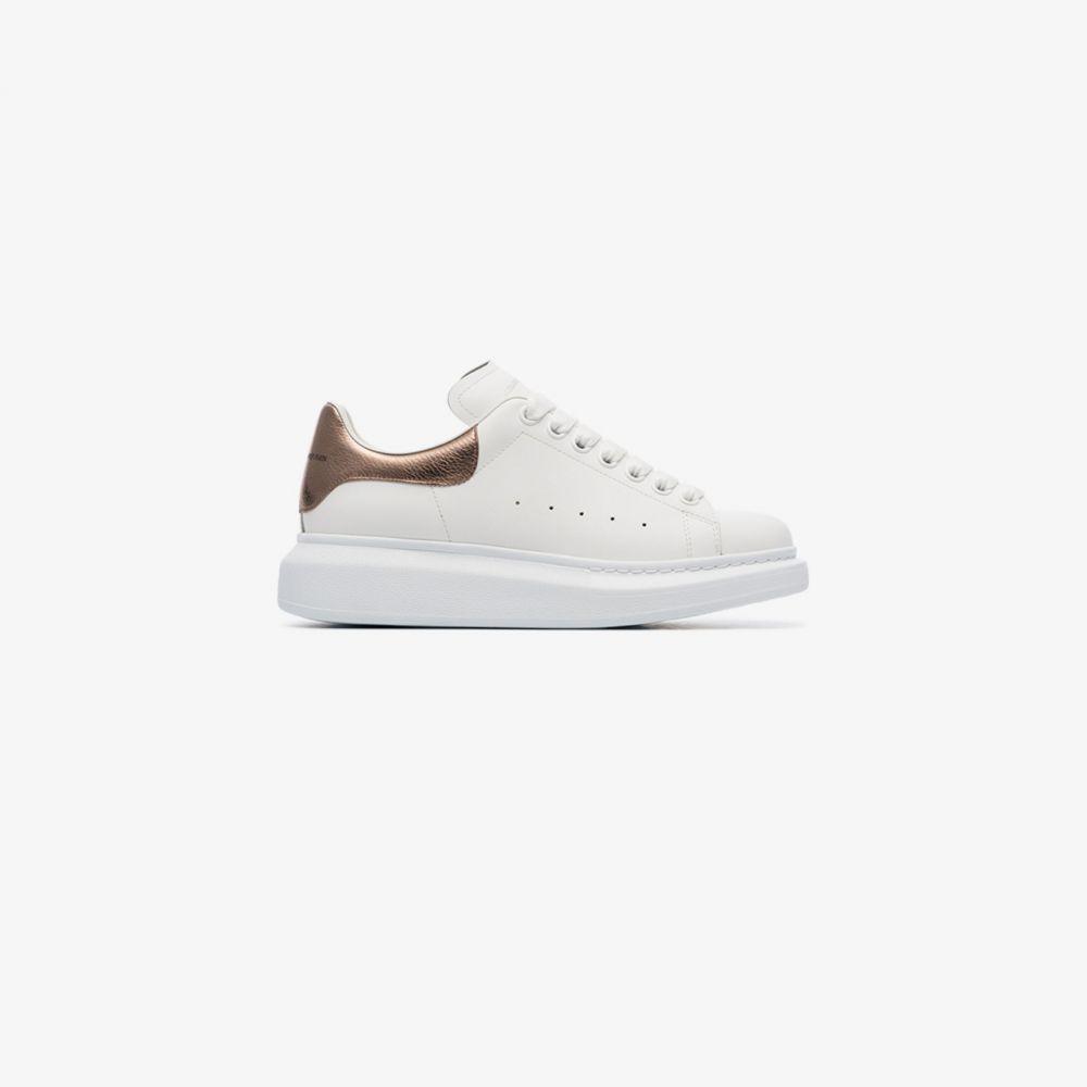 アレキサンダー マックイーン Alexander McQueen レディース スニーカー シューズ・靴【white and rose gold oversized sneakers】white