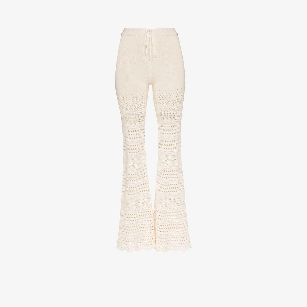 アミリ AMIRI レディース ボトムス・パンツ 【crochet knit flared trousers】neutrals