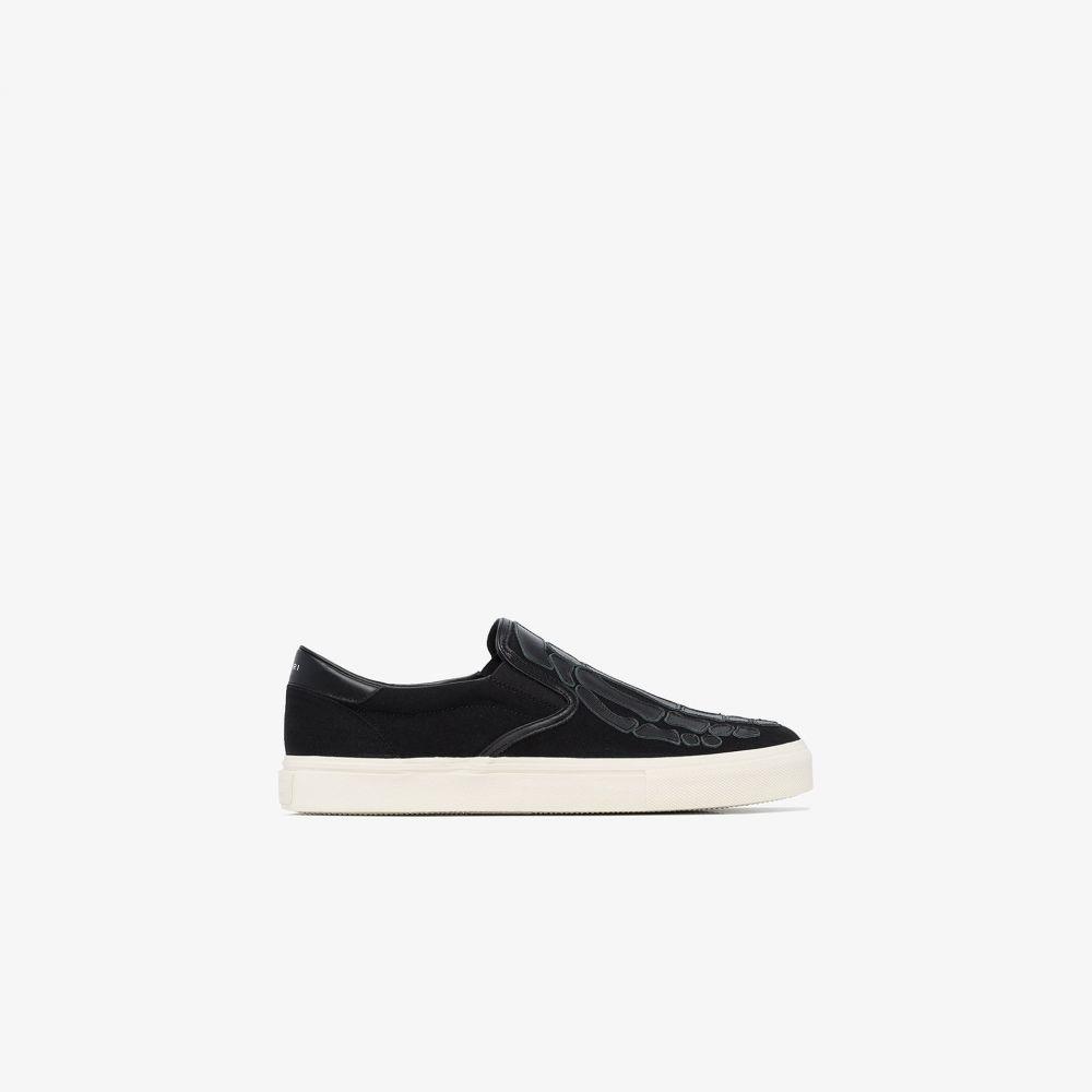 アミリ AMIRI メンズ スニーカー シューズ・靴【black Skeleton applique sneakers】black