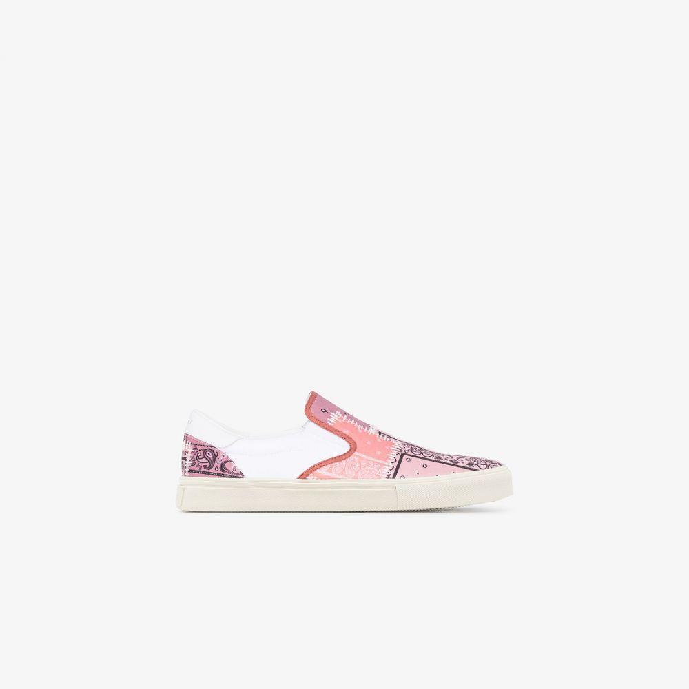 アミリ AMIRI メンズ スニーカー シューズ・靴【coral bandana print leather sneakers】white