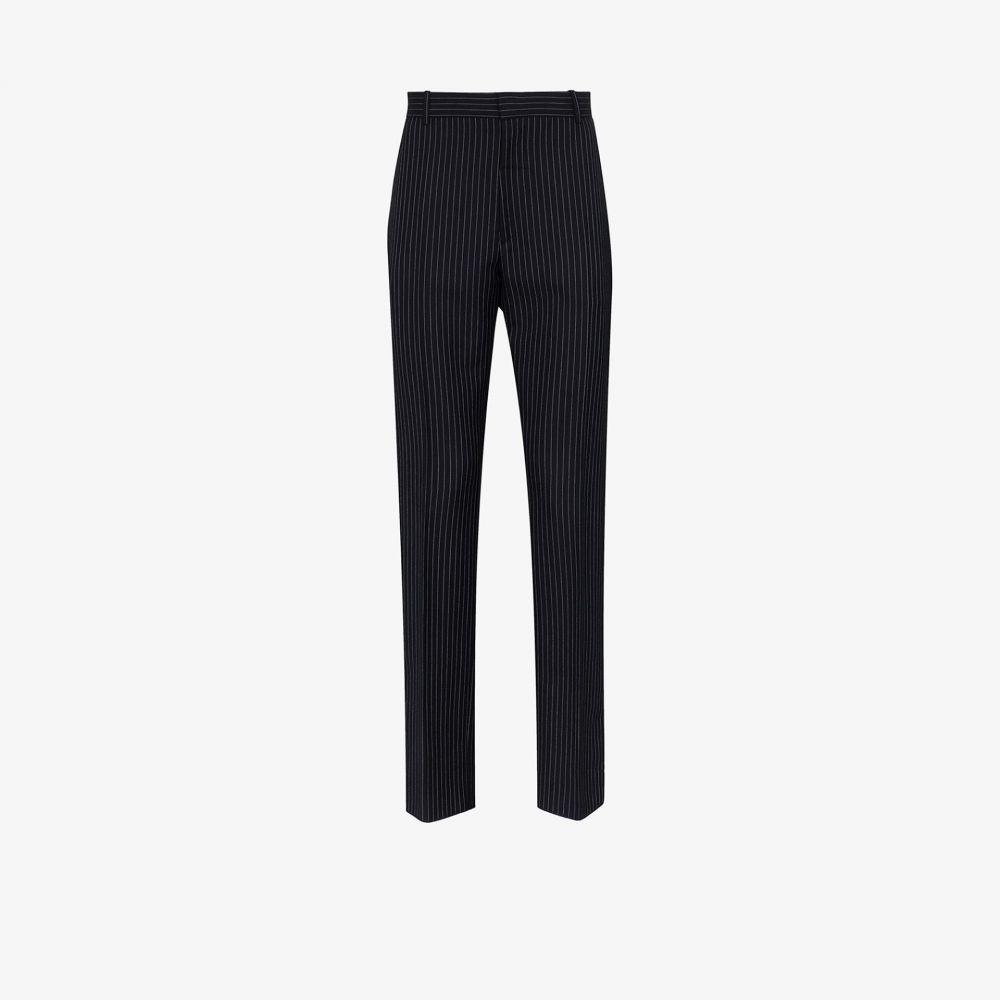 アレキサンダー マックイーン Alexander McQueen メンズ ボトムス・パンツ 【pinstripe wool trousers】black