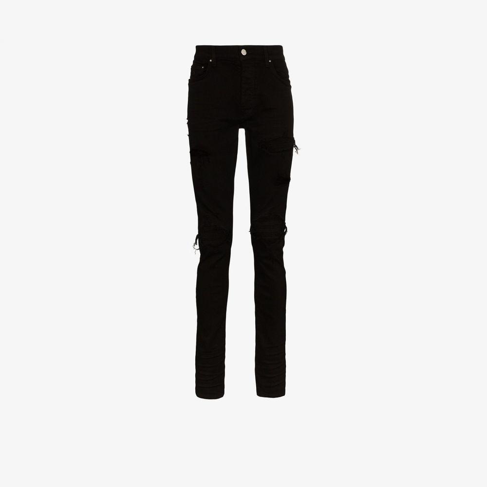 アミリ AMIRI メンズ ジーンズ・デニム ボトムス・パンツ【MX1 suede patch skinny jeans】black