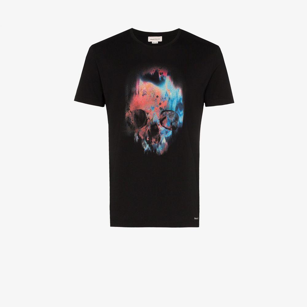 アレキサンダー マックイーン Alexander McQueen メンズ スキー・スノーボード Tシャツ トップス【skull cotton T-shirt】black