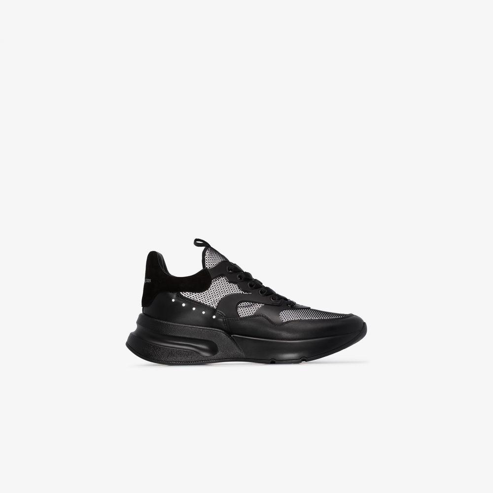 アレキサンダー マックイーン Alexander McQueen メンズ ランニング・ウォーキング スニーカー シューズ・靴【black oversized runner sneakers】black