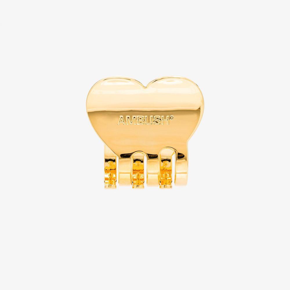 アンブッシュ AMBUSH レディース ヘアアクセサリー ヘアクリップ【gold tone heart hair clip】gold