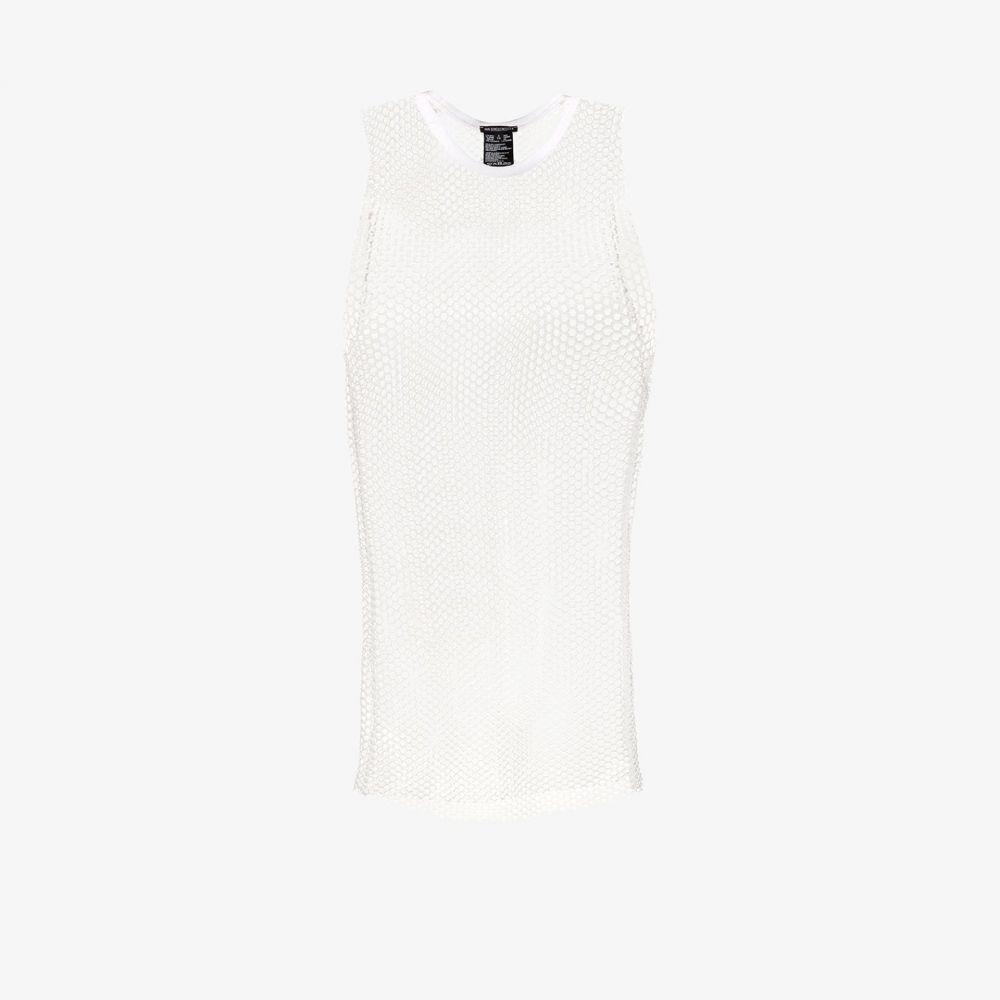 アンドゥムルメステール Ann Demeulemeester メンズ ベスト・ジレ トップス【netted vest】white