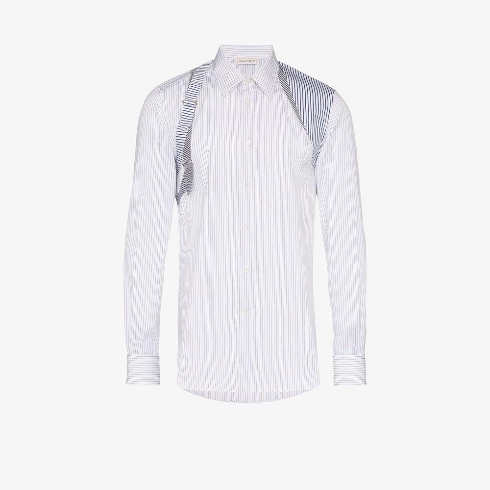 アレキサンダー マックイーン Alexander McQueen メンズ シャツ トップス【Striped suspender shirt】white