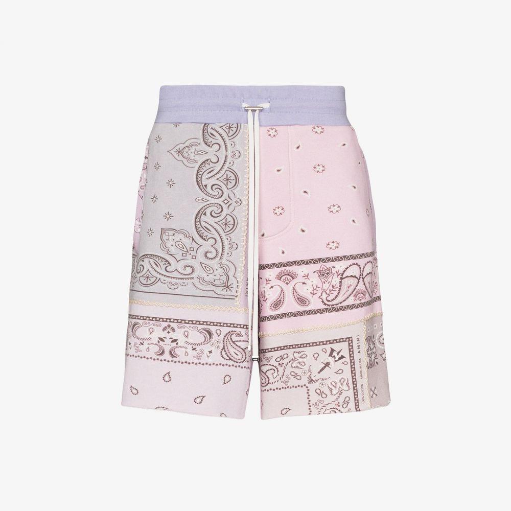 アミリ AMIRI メンズ ショートパンツ ボトムス・パンツ【bandana print cotton shorts】purple