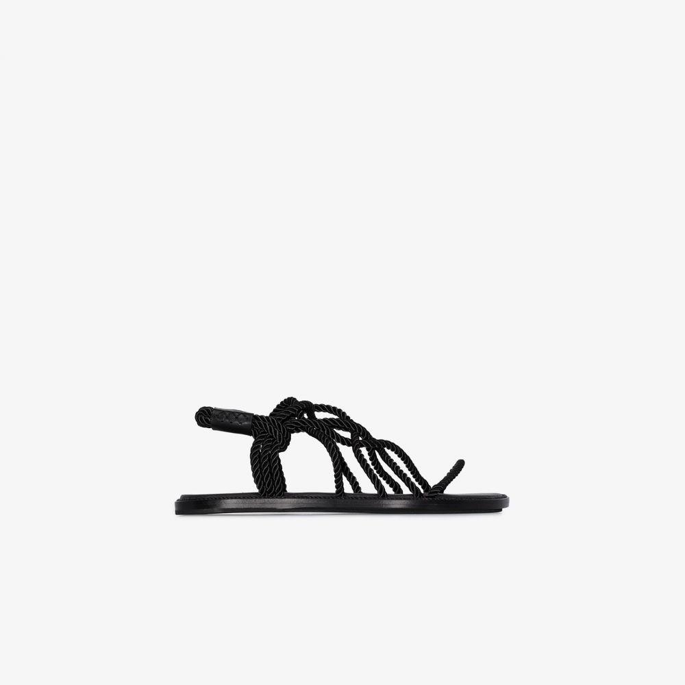 アンドゥムルメステール Ann Demeulemeester レディース サンダル・ミュール フラット シューズ・靴【Black flat rope sandals】black