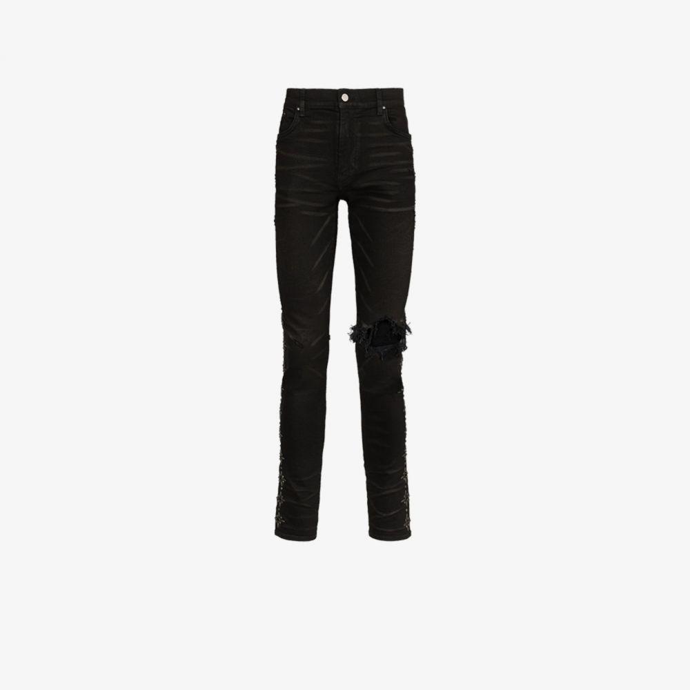 アミリ AMIRI メンズ ジーンズ・デニム ボトムス・パンツ【Broken side studded skinny jeans】black
