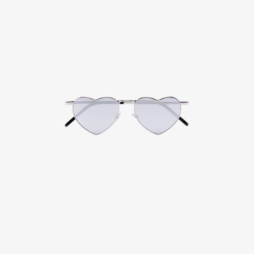 サンローラン Saint Laurent Eyewear レディース メガネ・サングラス 【Metallic Heart Sunglasses】metallic