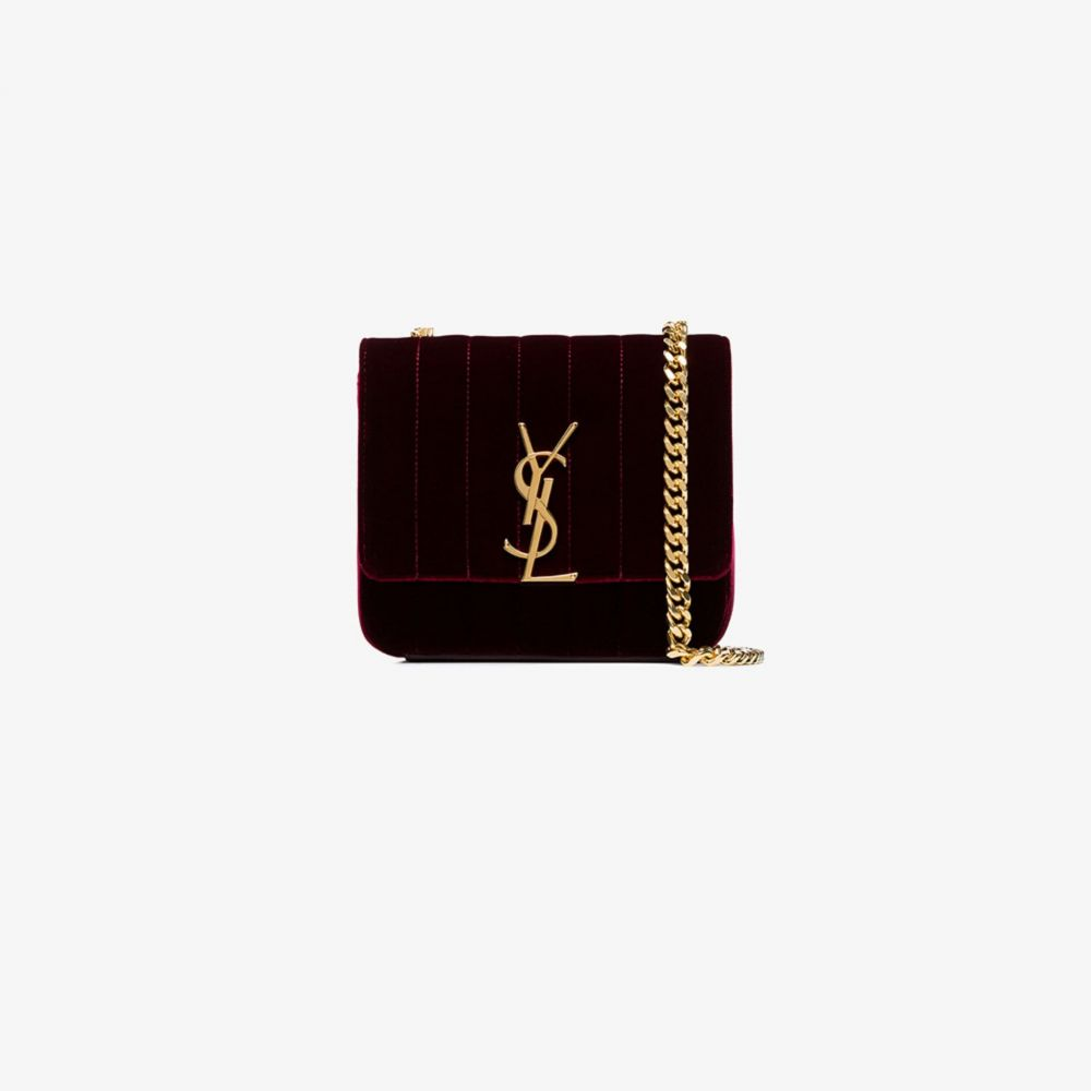 イヴ サンローラン Saint Laurent レディース ショルダーバッグ バッグ【burgundy small Vicky velvet cross body bag】red