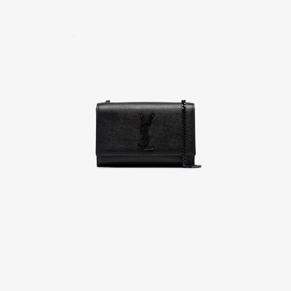 イヴ サンローラン Saint Laurent レディース ショルダーバッグ バッグ【black Kate leather shoulder bag】black