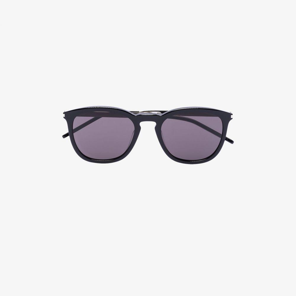 サンローラン Saint Laurent Eyewear レディース メガネ・サングラス ラウンド【black round sunglasses】black