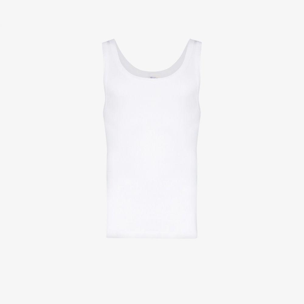 シーサー Schiesser メンズ タンクトップ トップス【Friedrich Cotton Tank Top】white