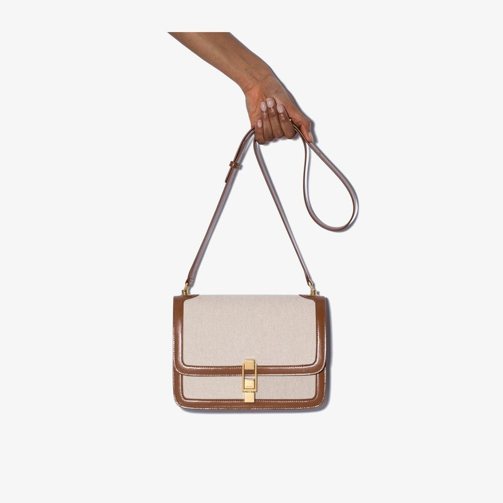 イヴ サンローラン Saint Laurent レディース ショルダーバッグ バッグ【Carre canvas crossbody bag】neutrals