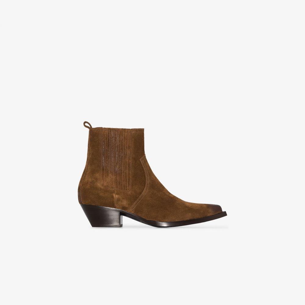 イヴ サンローラン Saint Laurent メンズ ブーツ シューズ・靴【brown lukas suede boots】brown
