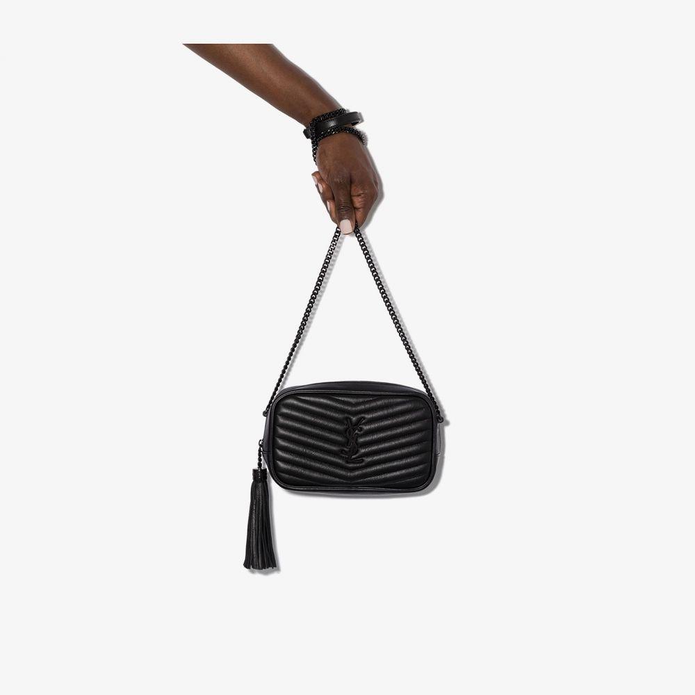 イヴ サンローラン Saint Laurent レディース ショルダーバッグ バッグ【Black Lou quilted leather mini bag】black