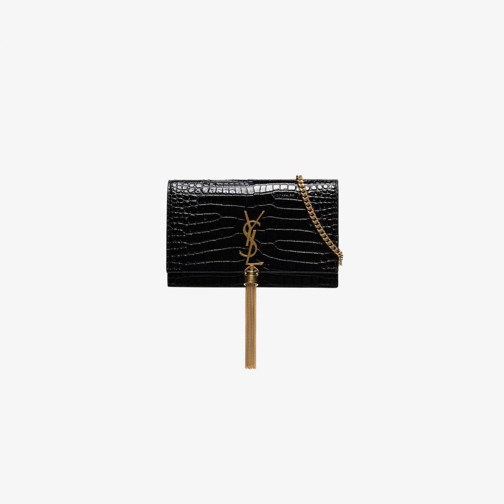 イヴ サンローラン Saint Laurent レディース ショルダーバッグ バッグ【Kate Monogram tassel bag】black