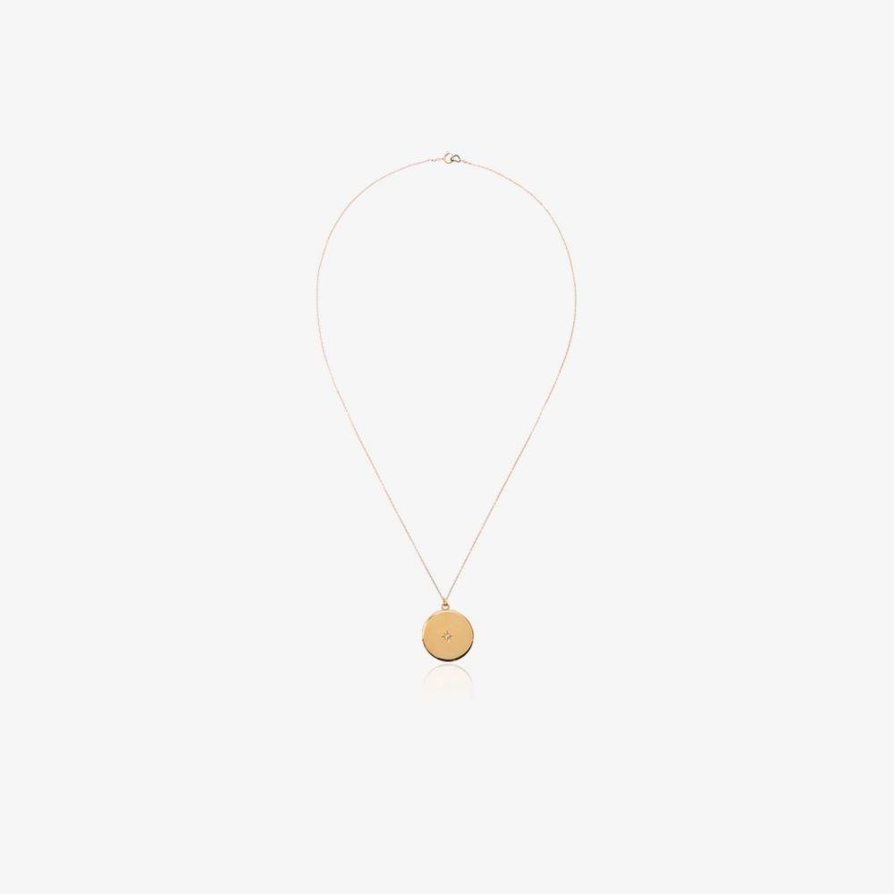 サシャ サミュエル Sasha Samuel レディース ネックレス ジュエリー・アクセサリー【Maxine circular gold-plated locket necklace】metallic