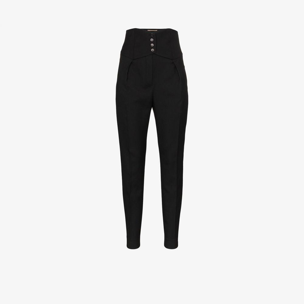イヴ サンローラン Saint Laurent レディース ボトムス・パンツ 【high waist front crease wool trousers】black