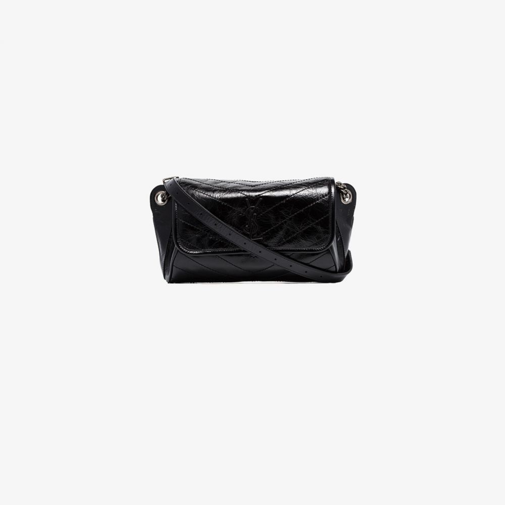 イヴ サンローラン Saint Laurent レディース ショルダーバッグ バッグ【black Niki medium leather shoulder bag】black