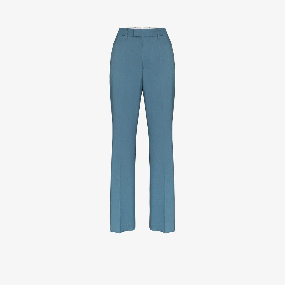 サミュエル グイ ヤン SAMUEL GUI YANG レディース ボトムス・パンツ 【high waist flared trousers】blue