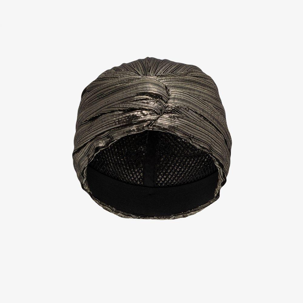 イヴ サンローラン Saint Laurent レディース ヘアアクセサリー ターバン【black and gold metallic turban】black