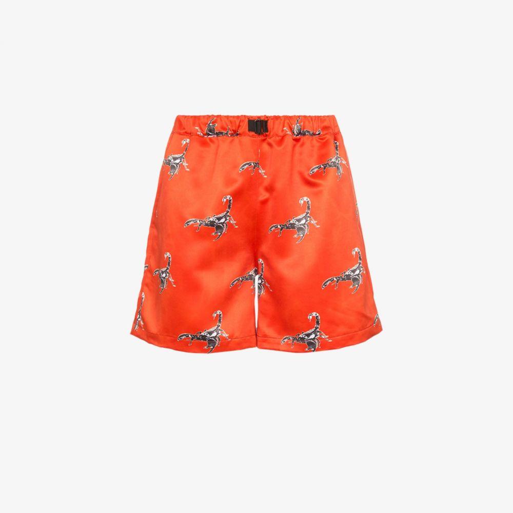 ブラウンズ Services Unknown X Browns East メンズ ショートパンツ ボトムス・パンツ【scorpion print silk shorts】red